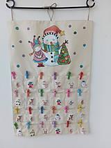Dekorácie - Adventný kalendár snehuliak - 11270494_