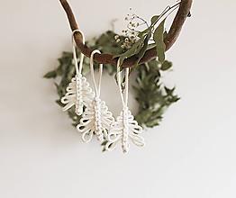 """Dekorácie - vianočná makramé ozdoba """"stromček"""" - 11268779_"""