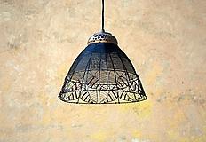 Svietidlá a sviečky - V listoví. Drátovaný lustr. - 11271452_