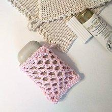 Drobnosti - Sieťka na mydlo (Ružová) - 11270701_
