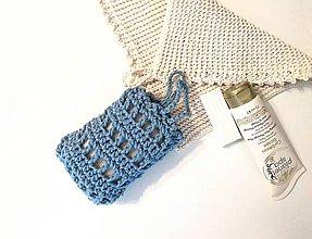 Drobnosti - Sieťka na mydlo (Modrá) - 11270719_