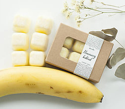 Svietidlá a sviečky - Banánový koktail vonný vosk - aróma - 11268015_