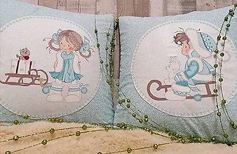 """Úžitkový textil - Vianočné vankúše """"zimné"""" - 11271145_"""