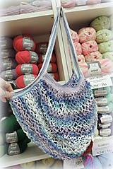Nákupné tašky - Sieťovka - modrá - 11269450_