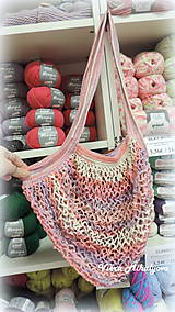 Nákupné tašky - Sieťovka - ružová - 11269534_