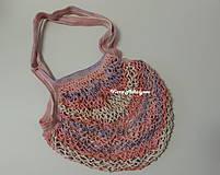 Nákupné tašky - Sieťovka - ružová - 11269536_