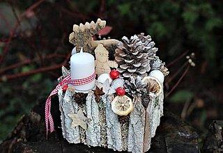 Dekorácie - Vianočný aranžmán - 11269484_