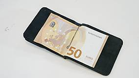 Peňaženky - Kožená dolarovka - vykrojená - 11271382_