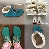 Obuv - Merino liners for barefoot gobi /vložky Merino wool - 11271451_