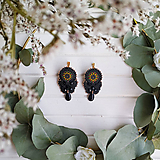 Náušnice - Vintage soutache earrings n.8 - sutaškové náušnice - 11268210_