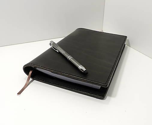 Black - kožený obal na zápisník A5