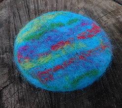 Odznaky/Brošne - plstená dúhová brož na dozdobenie - 11269297_