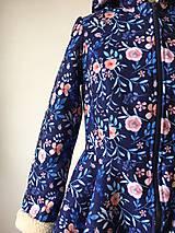 Kabáty - zimný kabát Na modrej lúke - 11270746_