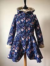 Kabáty - zimný kabát Na modrej lúke - 11270747_