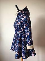 Kabáty - zimný kabát Na modrej lúke - 11270749_