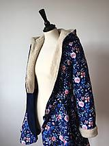 Kabáty - zimný kabát Na modrej lúke - 11270750_