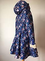 Kabáty - zimný kabát Na modrej lúke - 11270752_