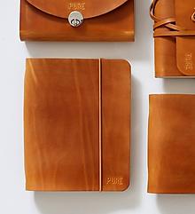Papiernictvo - Kožený zápisník / karisblok SIMPLE A5 - 11269670_