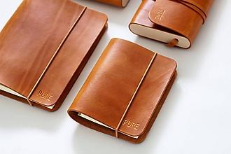 Papiernictvo - Kožený zápisník/karisblok SIMPLE A6 - 11269752_