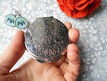 Zrkadielka - Zrkadielko s vtáčikmi X. (zrkadielko + náušničky) - 11270082_