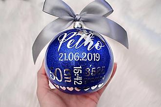 Dekorácie - Vianočná guľa Novorodenec - 11269244_
