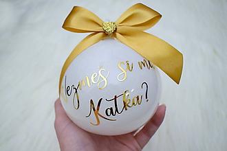 Dekorácie - Vianočná guľa Vezmeš si ma? - 11270620_
