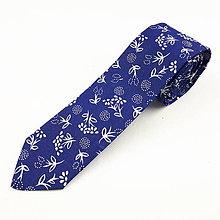 Doplnky - Pánska kravata slim fit - modrotlač - 11270240_