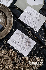 Papiernictvo - Svadobné oznámenia - Horse - 11270998_