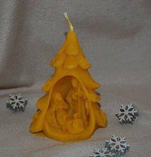 Svietidlá a sviečky - Sviečka stromček so Sv. rodinou - 11268116_
