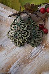 Náušnice - Náušnice vianočné zelené - 11270594_