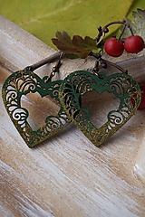 Náušnice - Náušnice vianočné zelené - 11270618_