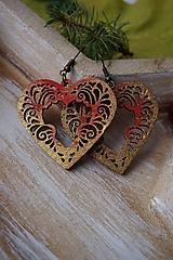 Náušnice - Náušnice vianočné červené - 11270856_