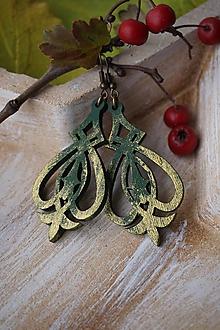 Náušnice - Náušnice vianočné zelené - 11270584_