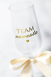 Papiernictvo - TEAM NEVESTA ❤  - nálepka na svadobný pohár - 11270277_