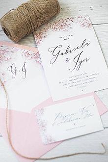 Papiernictvo - Svadobné oznámenie s pivonkami ❤ - 11270289_