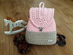 Detské tašky - Háčkovaný detský ruksak - 11268523_