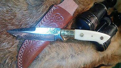 Nože - Damaskový lovecký nôž - 11269047_