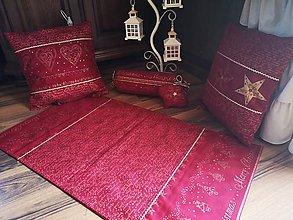 Úžitkový textil - Vianoce 2019-vinovo-zlata sada - 11269636_