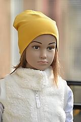 Detské čiapky - Čiapka Elastic horčicová - 11271326_