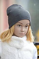 Detské čiapky - Čiapka Elastic antracitová - 11271333_