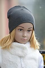 Detské čiapky - Čiapka Elastic antracitová - 11271334_