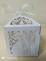 Darčeky pre svadobčanov - Darčeková krabička - biela perleť - 11271614_