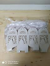 Darčeky pre svadobčanov - Darčeková krabička - biela perleť - 11271618_