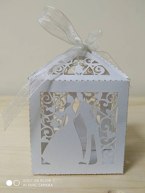 Darčeková krabička - biela perleť