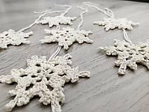 Drobnosti - Vianočné ozdoby snehová vločka - 11269196_
