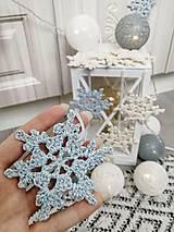 Drobnosti - Vianočné ozdoby snehová vločka - 11269197_