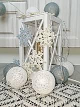 Drobnosti - Vianočné ozdoby snehová vločka - 11269198_