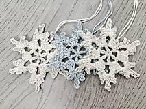 Drobnosti - Vianočné ozdoby snehová vločka - 11269199_