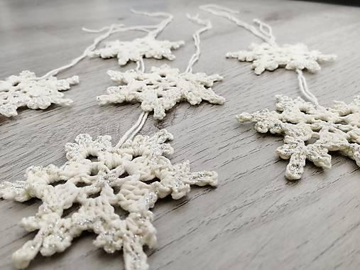 Vianočné ozdoby snehová vločka