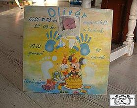 Tabuľky - Tabulka pre novorodenca :) - 11270096_